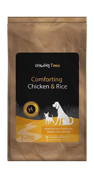 Comforting Chicken Rice Dog Food Growling Tums
