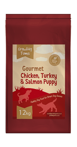 Gourmet Chicken Turkey Salmon and Veg Puppy Food